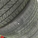 タイヤにネジが刺さった。。。。。。。
